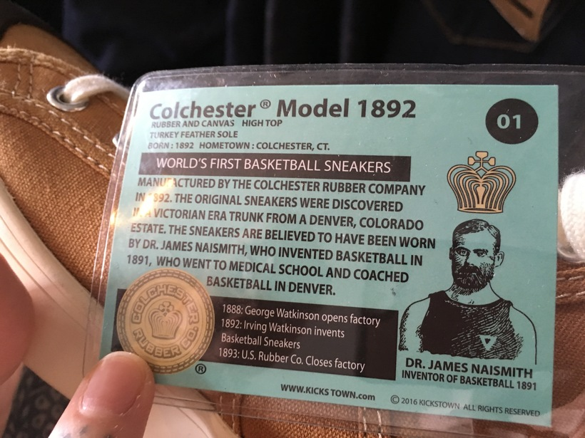 Buy Colchester and get a story with your sneakers!