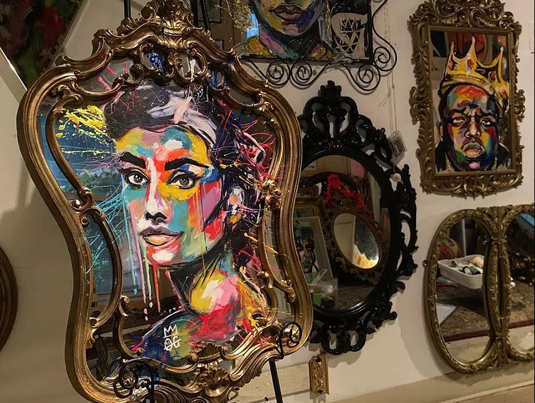 Mirror Painting by Kamille Ejerta (OGMillie)