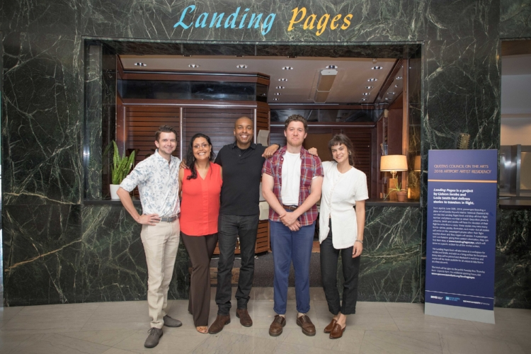 2018 ArtPort Artists (l.-r.) Brian Soliwoda, Sandra Lopez-Monsalve, Sherwin Banfield, Gideon Jacobs, Lexie Smith (courtesy PANYNJ)