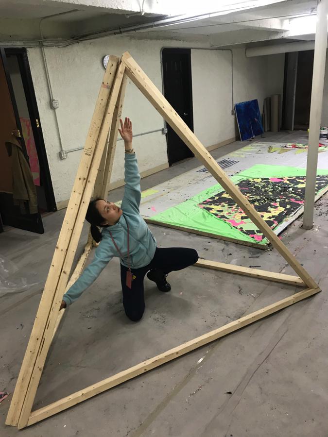 Chuan Xie in her studio