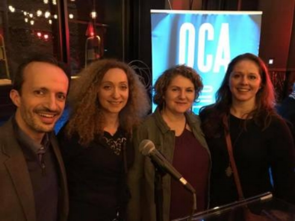 Members of the Eclipses Theater Group New York at the 2018 QAF Awards Ceremony