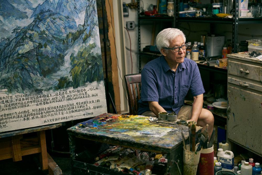 Artist Hongtu Zhang at his studio, Photo by Shaoyi Zhang