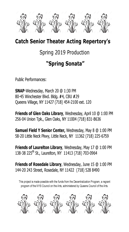 STAR - Senior Theater Acting Repertory (Arts Access Grantee