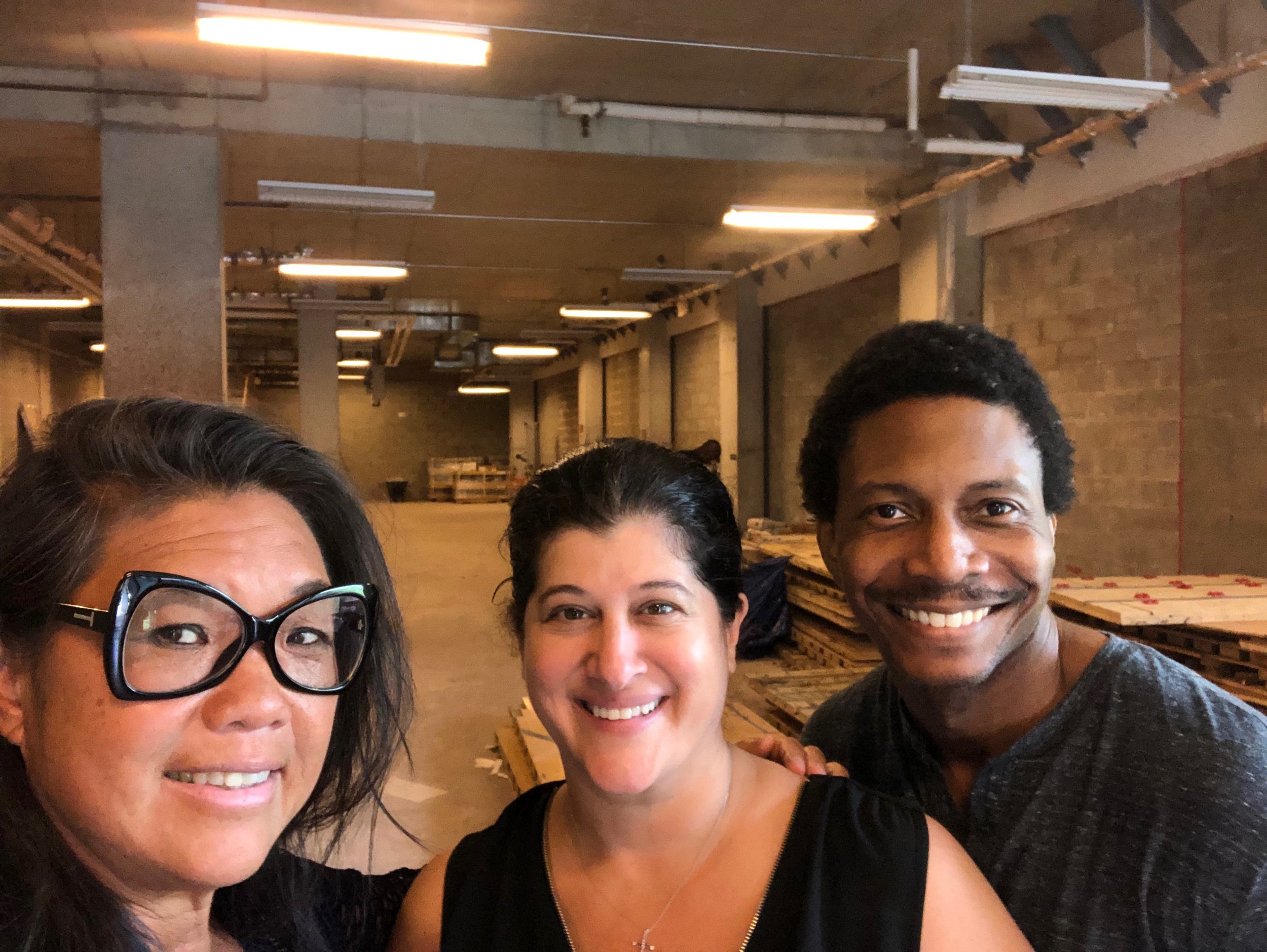 Me, Gianna and Masud in our new space