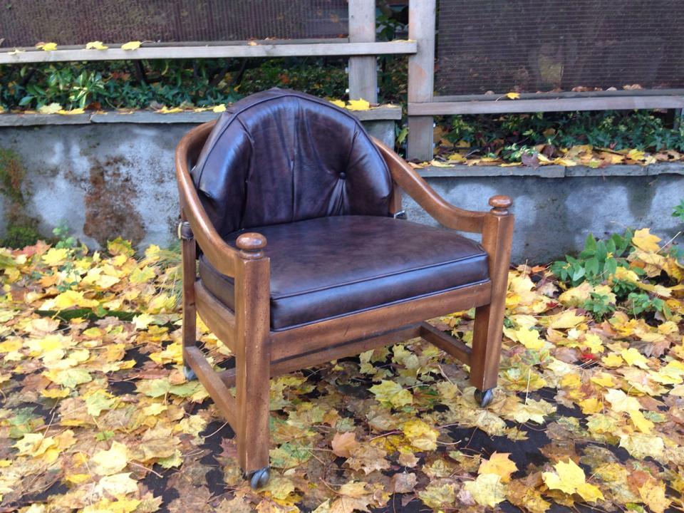 Vinyl + Wood Rolling Chair 1.jpg