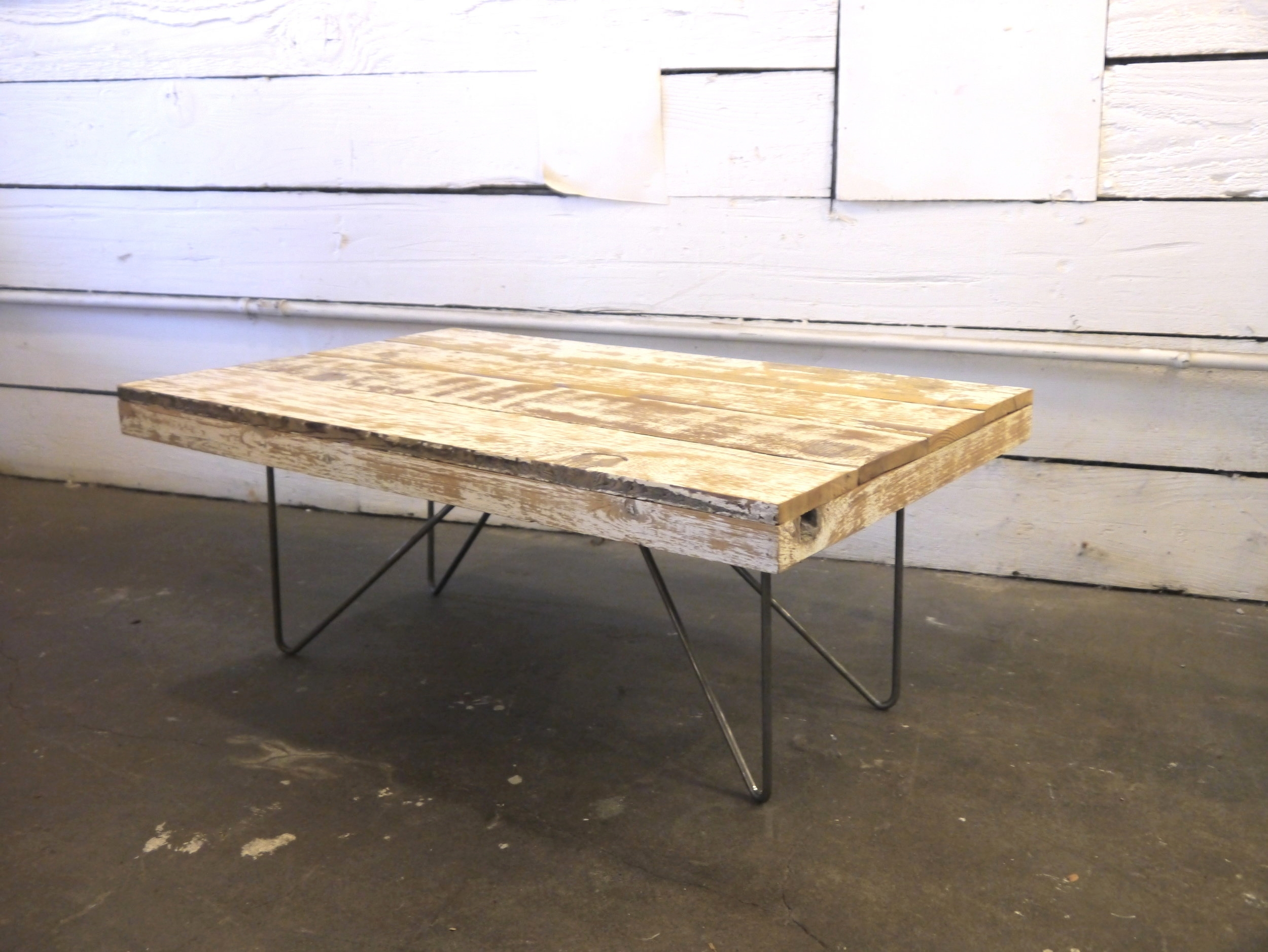 4' White Coffee Table $239