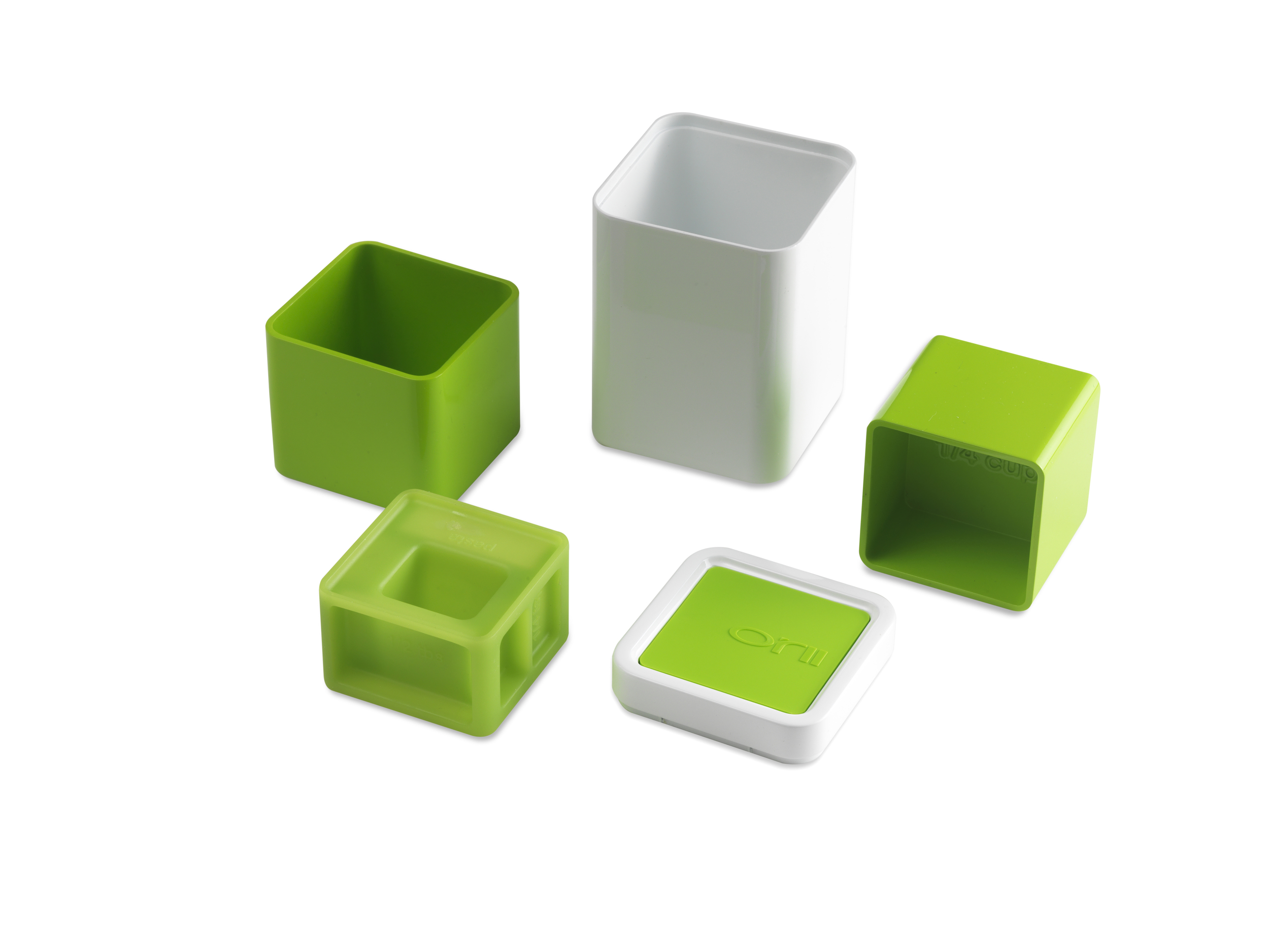 ALL-IN-1 Orii MEASURING CUP & SPOON BLOCK SET    VIBRANT GREEN