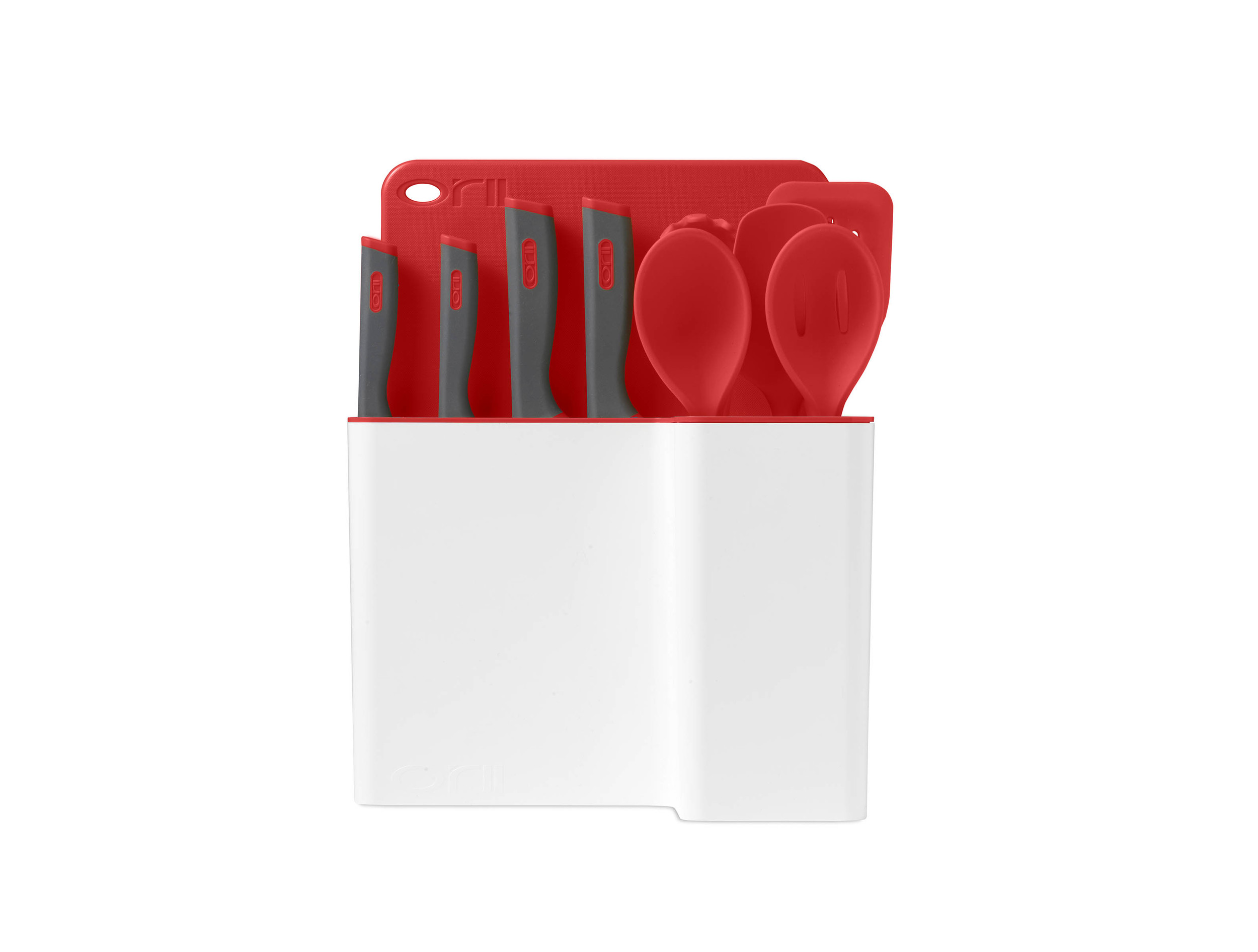 Orii 12PC MONO KITCHEN ORGANIZATION SET - RUBY RED