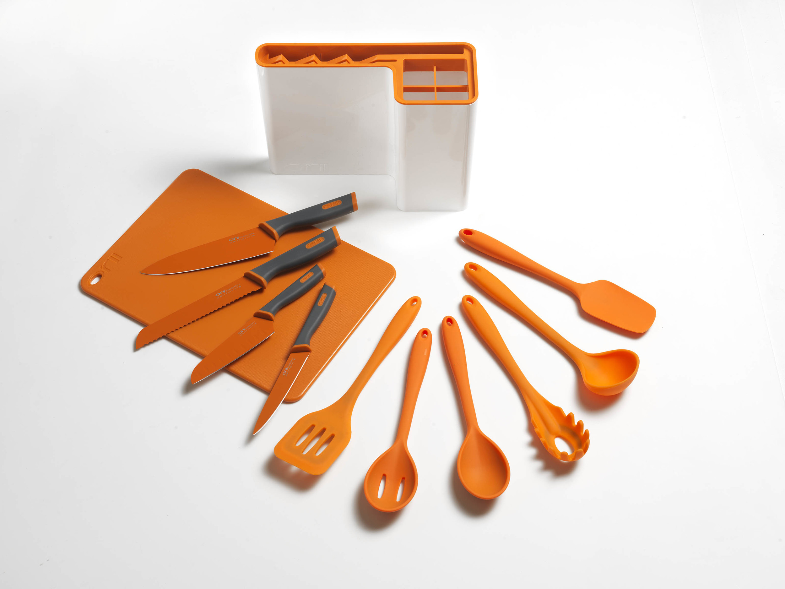 Orii 12PC MONO KITCHEN ORGANIZATION SET   - LUMINOUS ORANGE                                                             TRADITIONAL UTENSILS