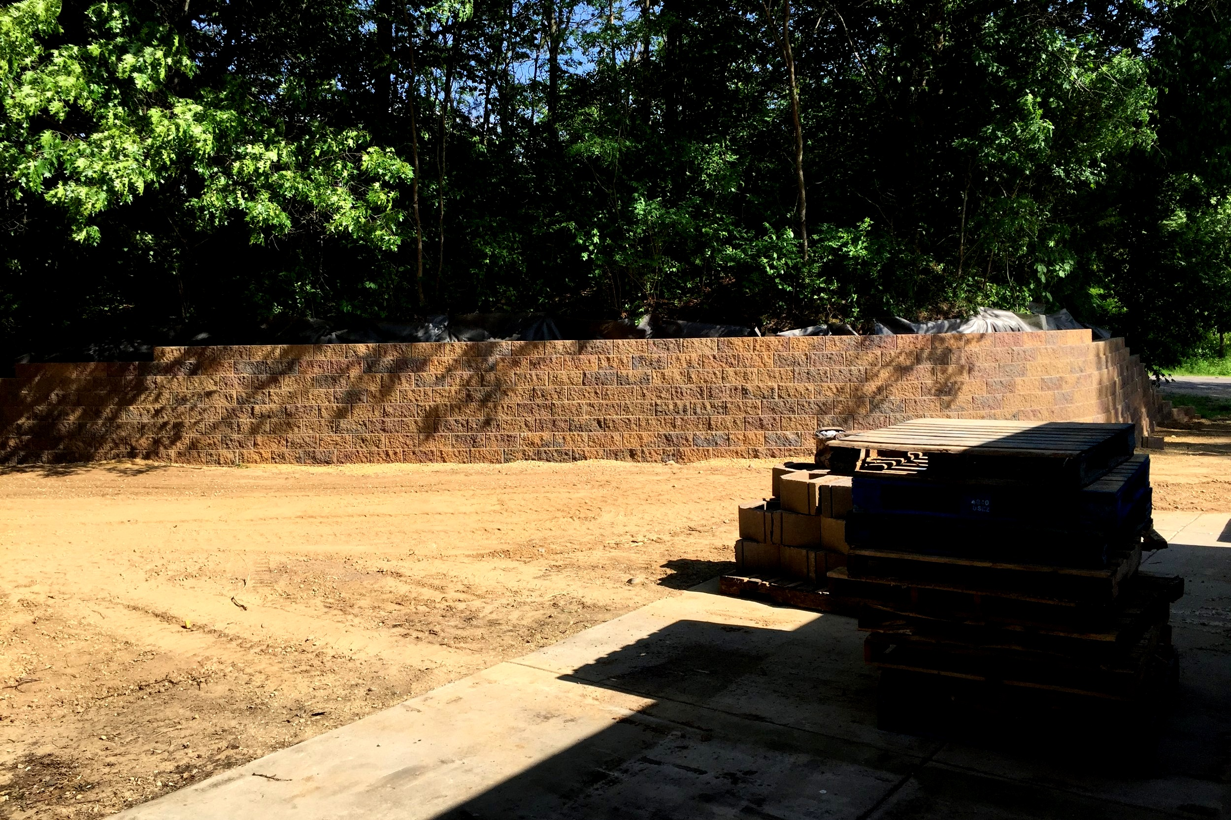 6x110 Foot Retaining Wall
