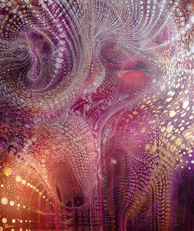 Pattern is sound 117 x 138cm Acrylic on canvas 2012