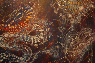 Natures soul (detail) 95 x 138cm Acrylic on canvas 2012 (Sold)
