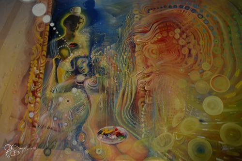 Sani-tea 138 x 95cm Acrylic on canvas 2011