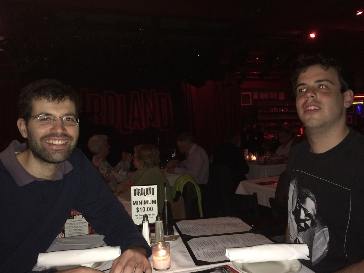 Sam and Yaniv at Birdland