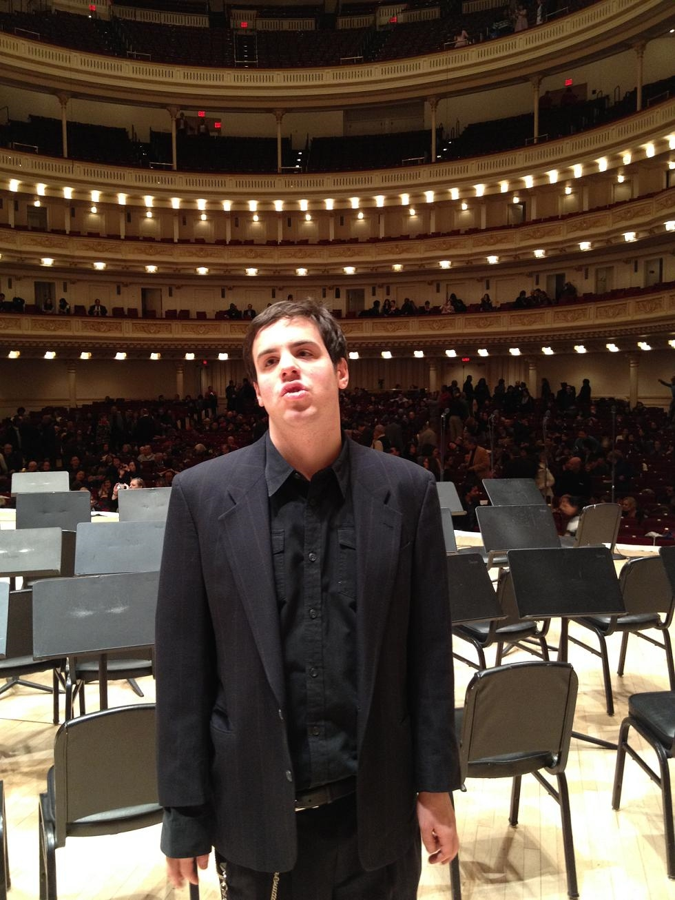 Sam in Carnegie Hall
