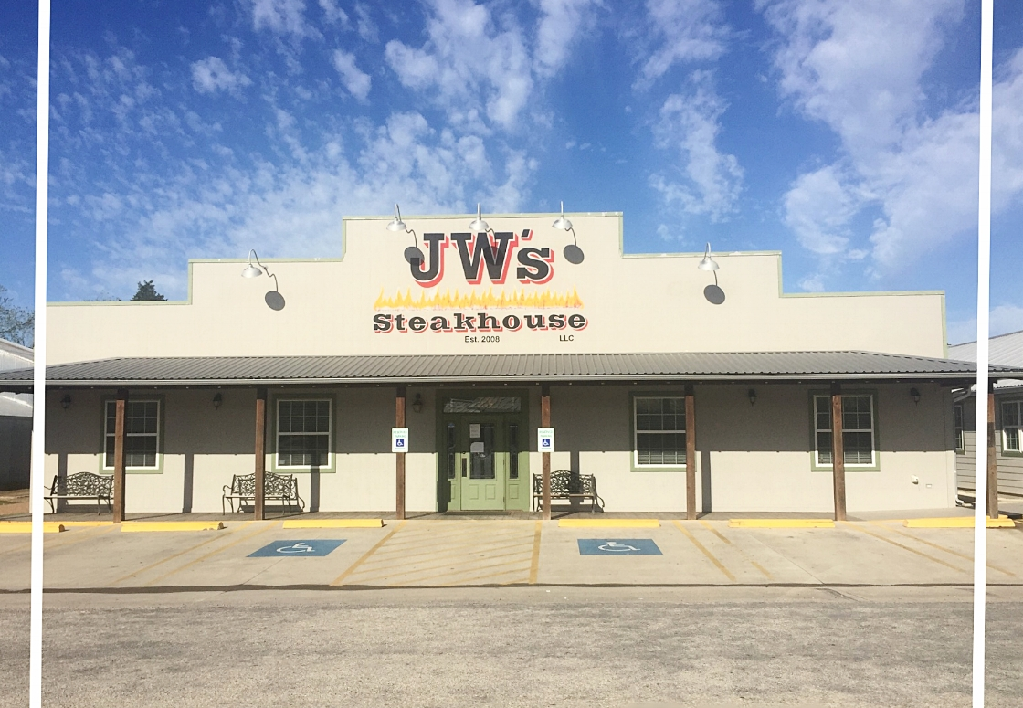 JW's STEAKHOUSE - Jeff & Kristie WunderlichFamily owned restaurant with country cooking featuring mesquite fired steaks, certified Angus beef, seafood, burgers, daily specials, including lunch specials, homemade desserts, large selection of beer & wine122 S. Hauptstrasse Street   Carmine, TX 78932979-278-4240Mon-Thur 11AM - 9 PM   Fri-Sat 11AM - 10PMClosed SundaysCCC Member - 2017