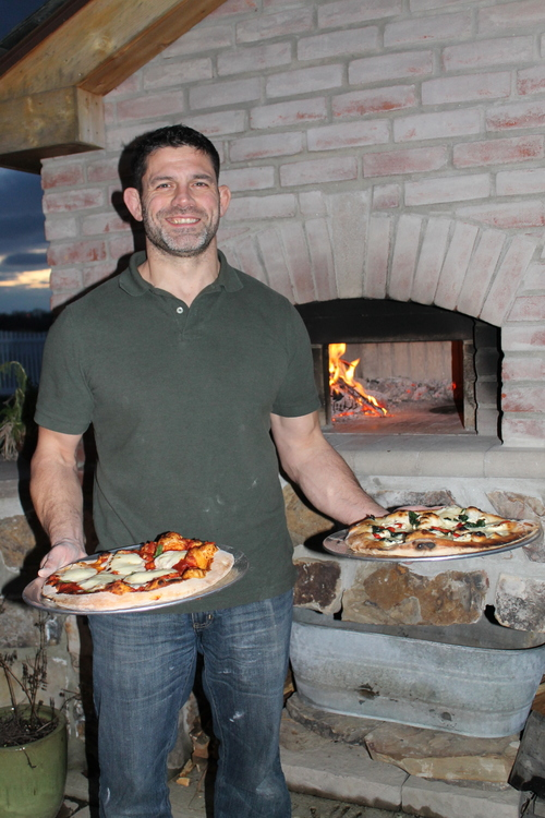 100% homemade pizza - crust, sauce and even cheese - from Dr. Schindler's bread oven
