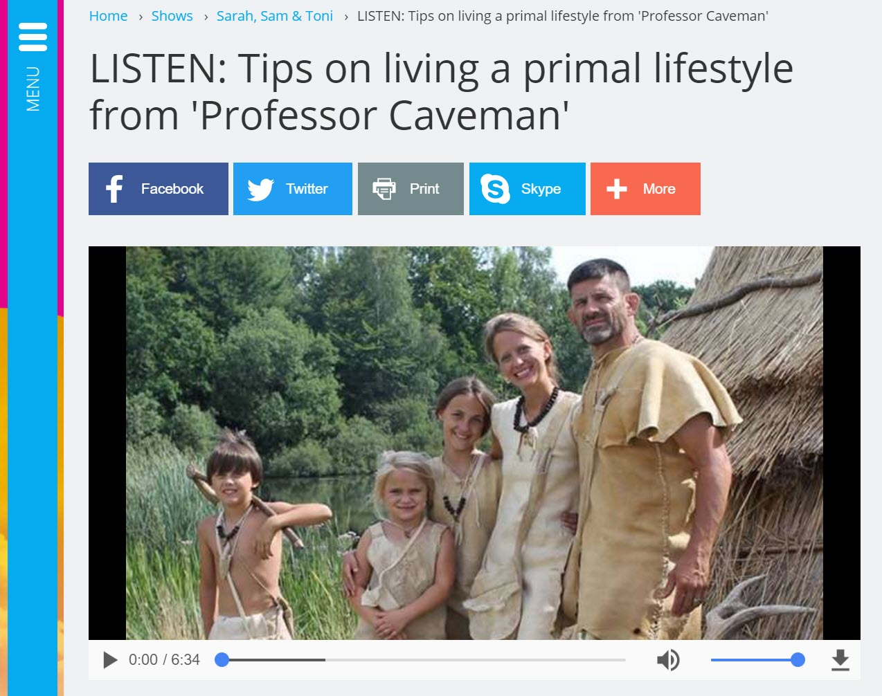 Family screenshot of podcast
