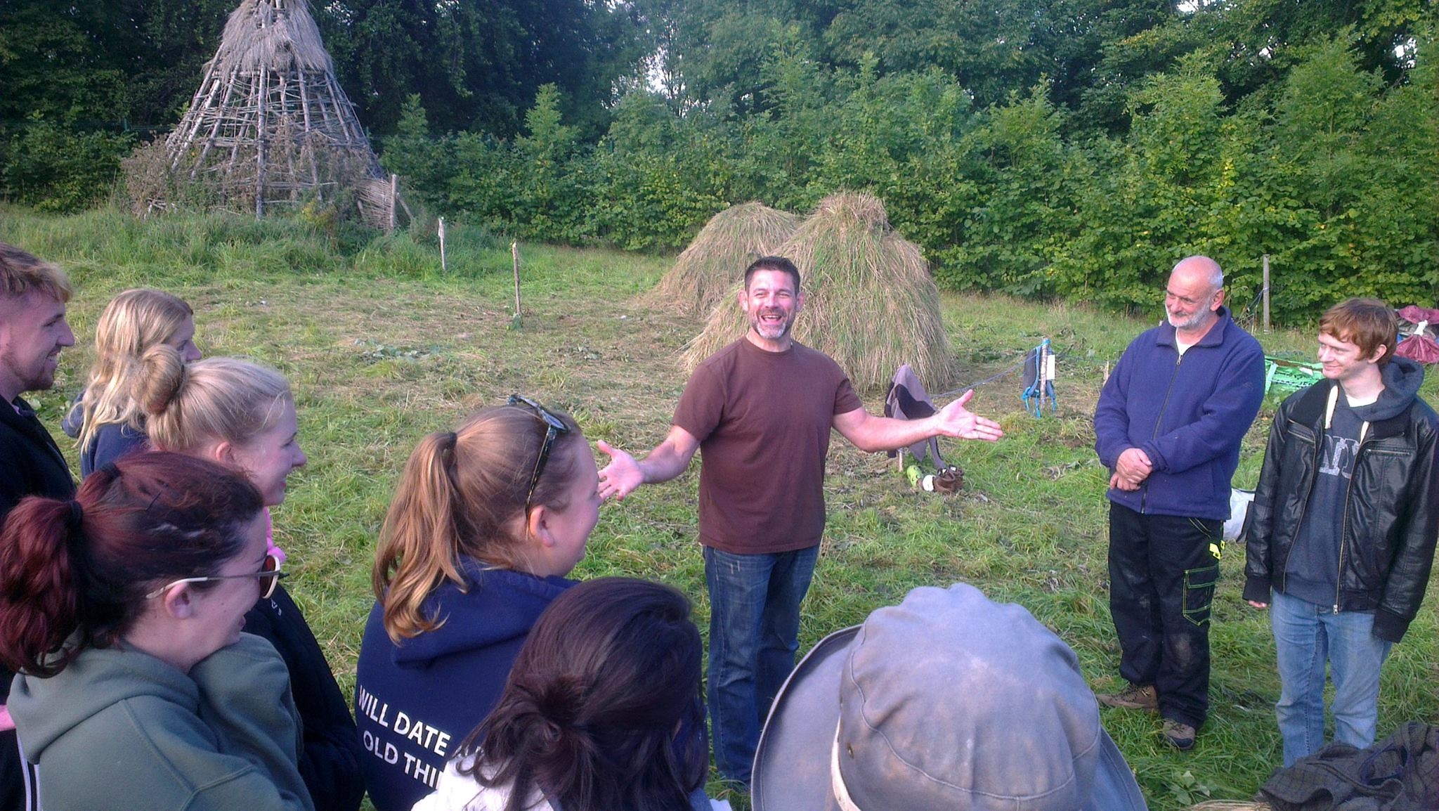 Dr Schindler with a group on a foraging tour