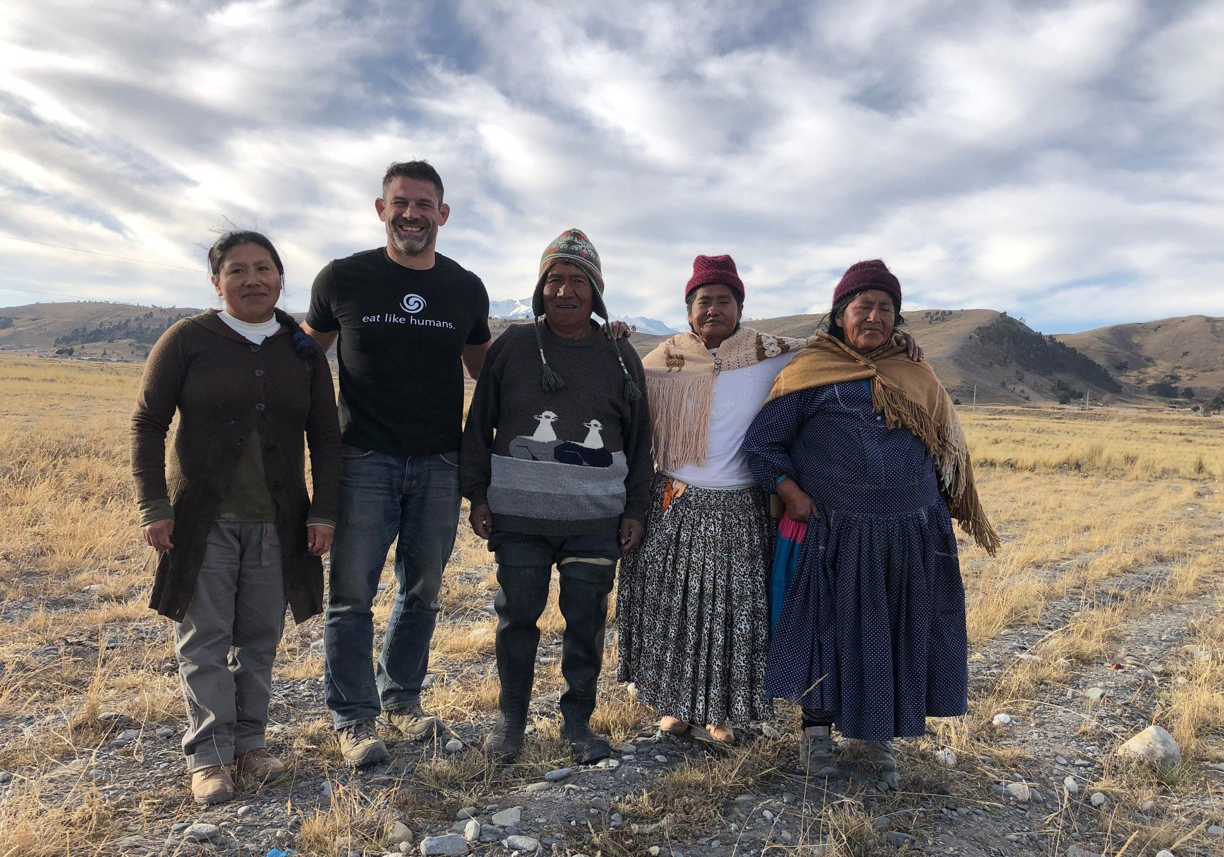 Dr. Bill with Aymara family in Bolivia (2019)