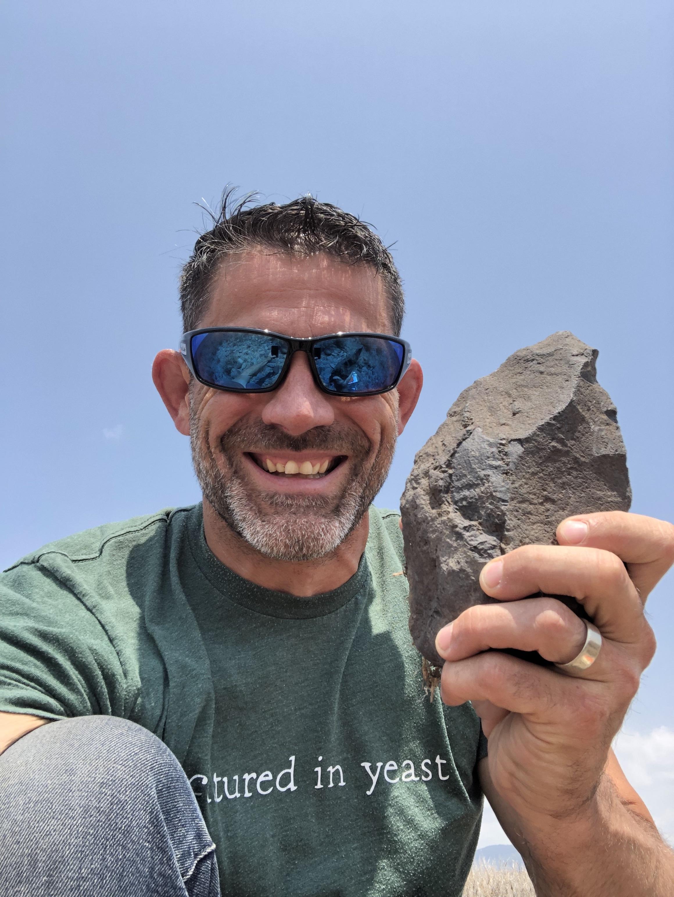 One happy archaeologist!