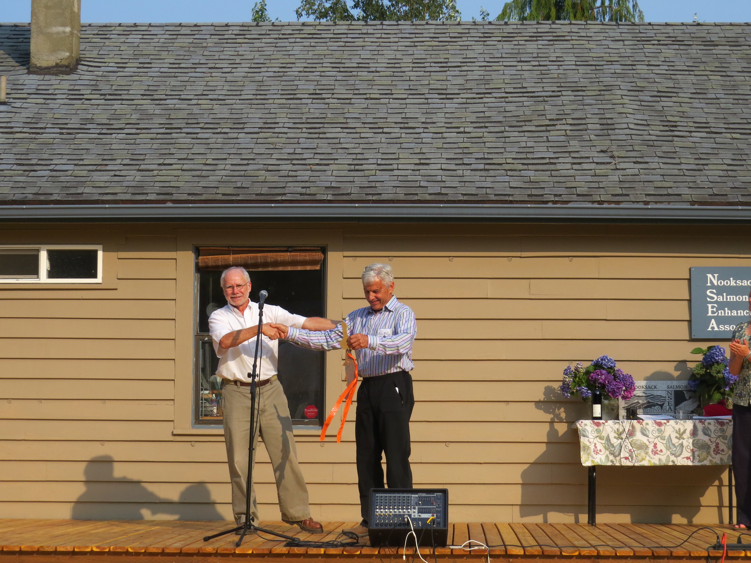 Todd Jones Passes the Property Keys to Mike McRory - July 2015