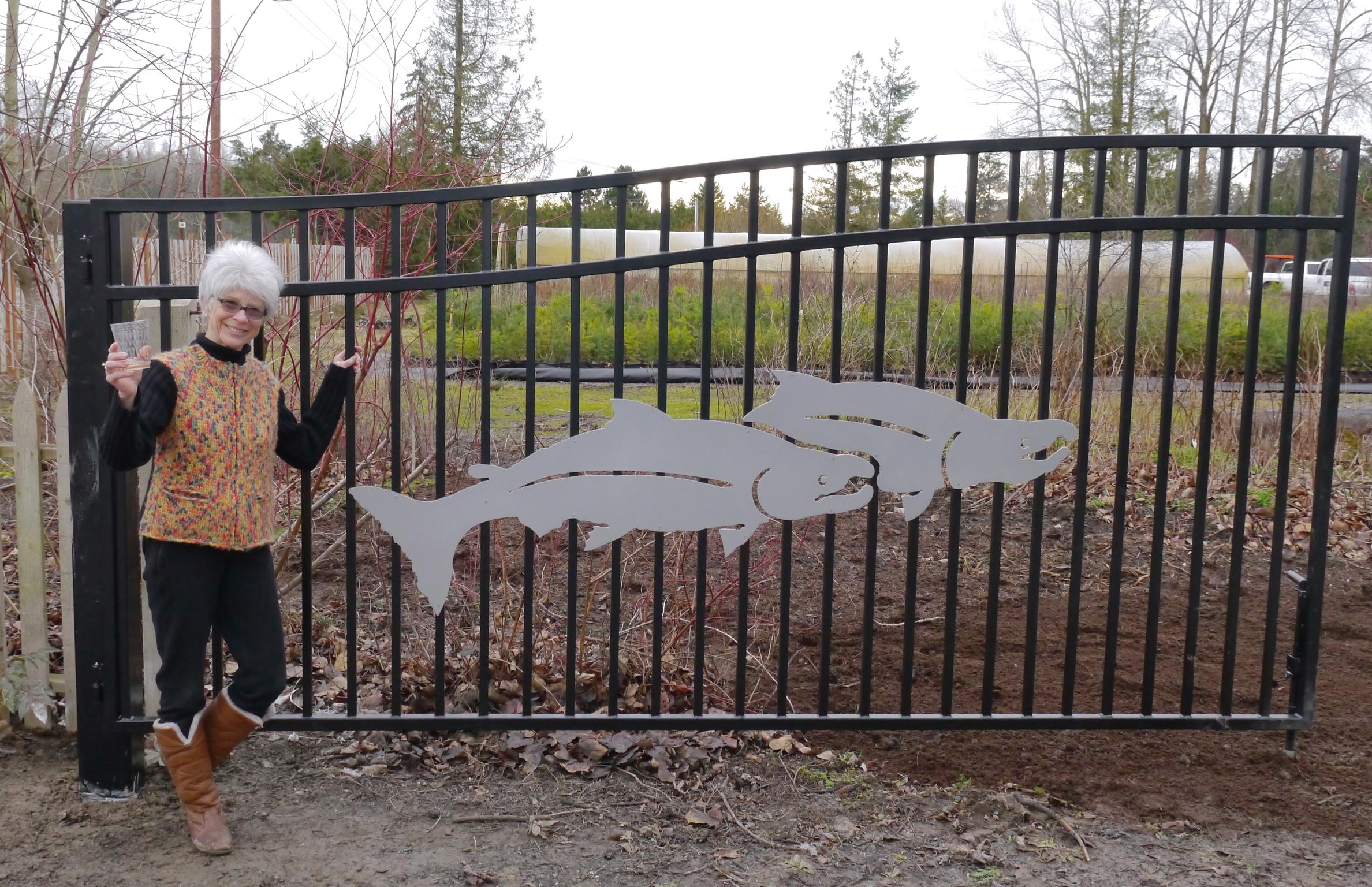 Elaine McRory, designer and sponsor of NSEA's new Entrance Gate - January 2016