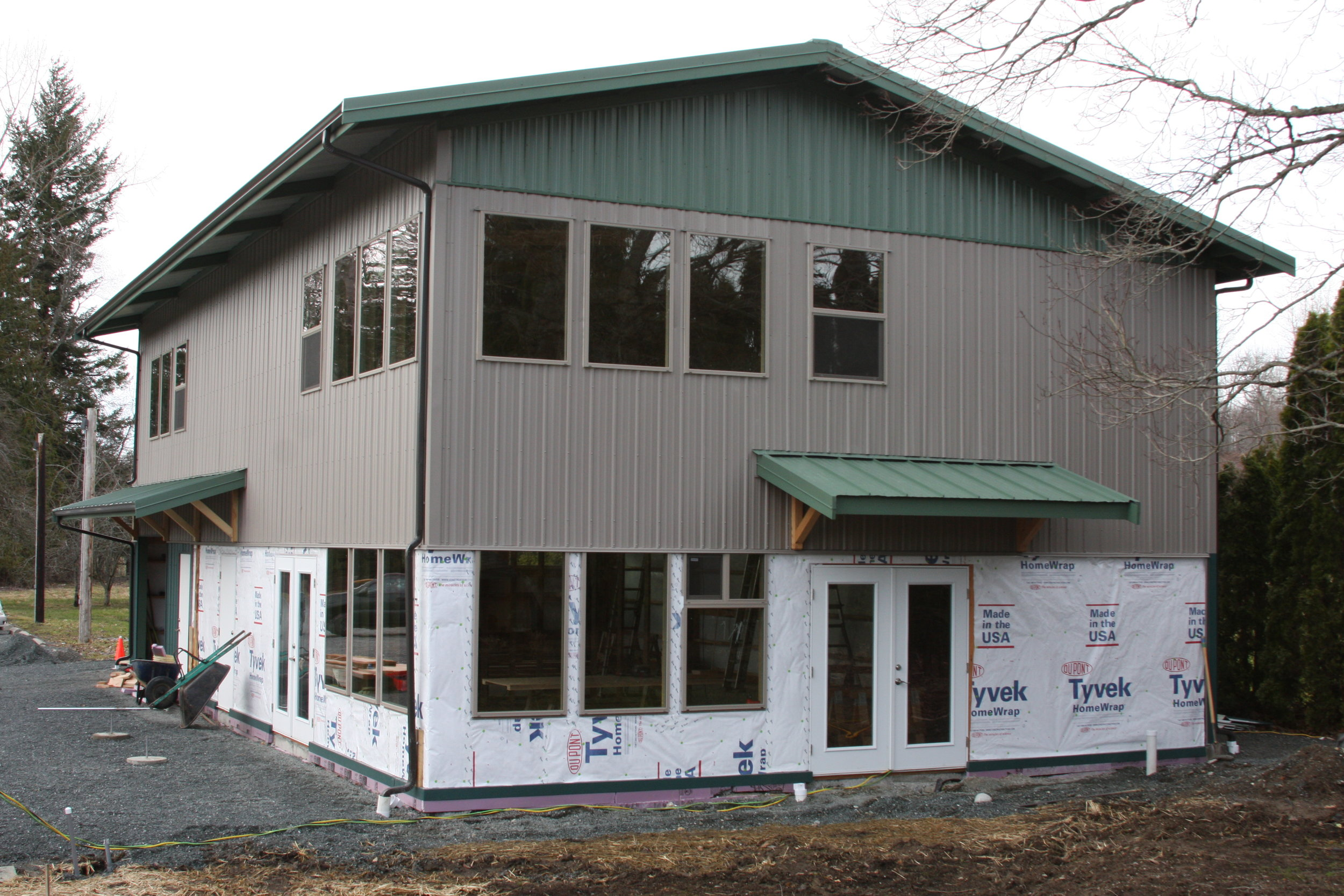 The Community Building will have a meeting room below and a resource library upstairs - Winter 2017