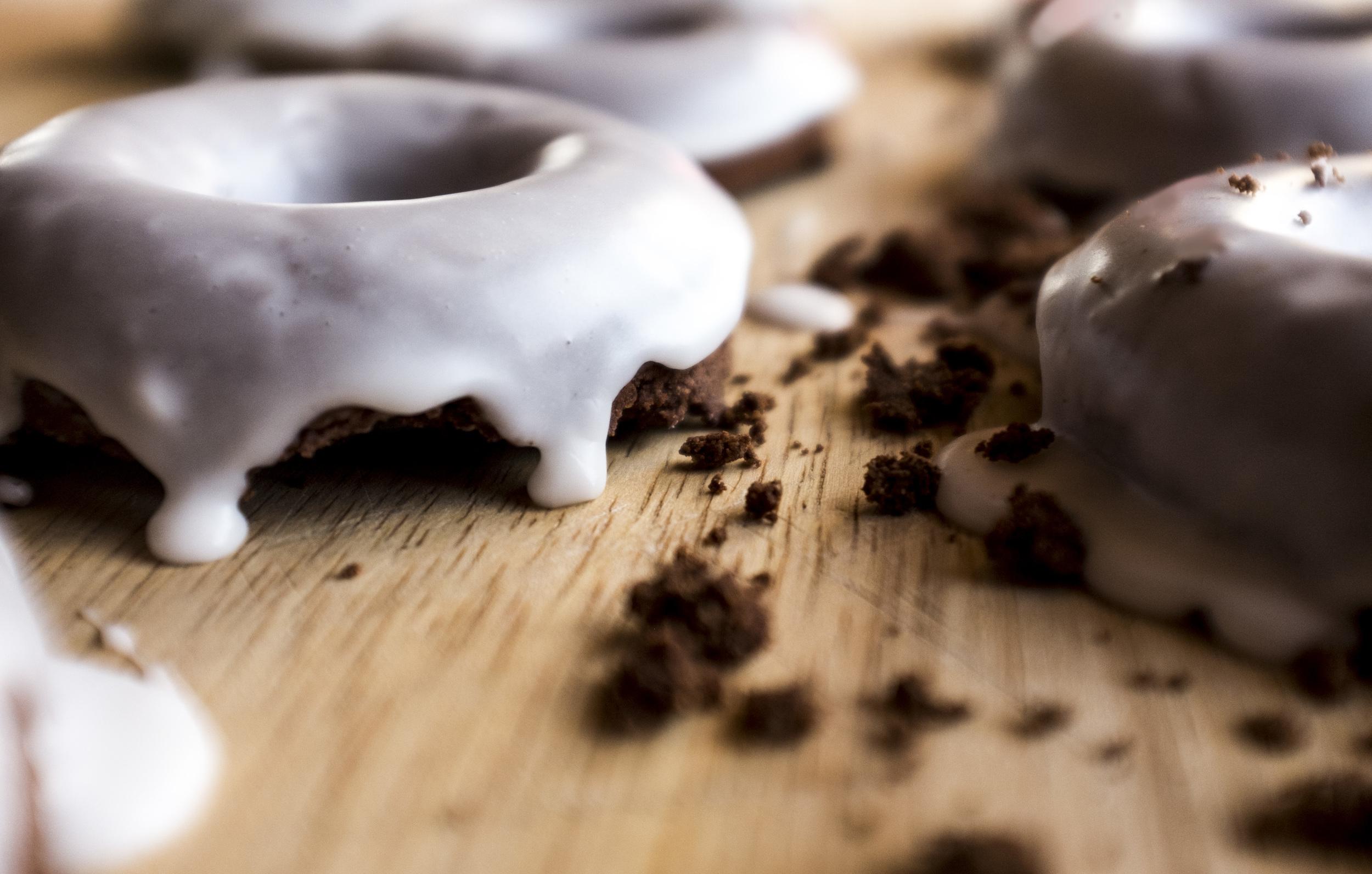 gluten-free & Vegan Chocolate cake doughnuts
