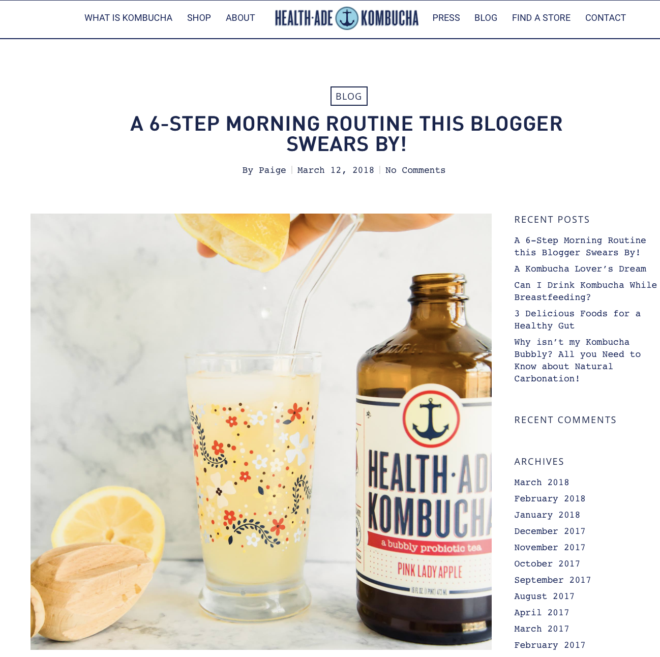 Health-Ade Kombucha & Front Paige - I am proud to announce I am a part of the 2018 Health-Ade Kombucha Bubbly Gang! Check in every month for a new blog post by me!