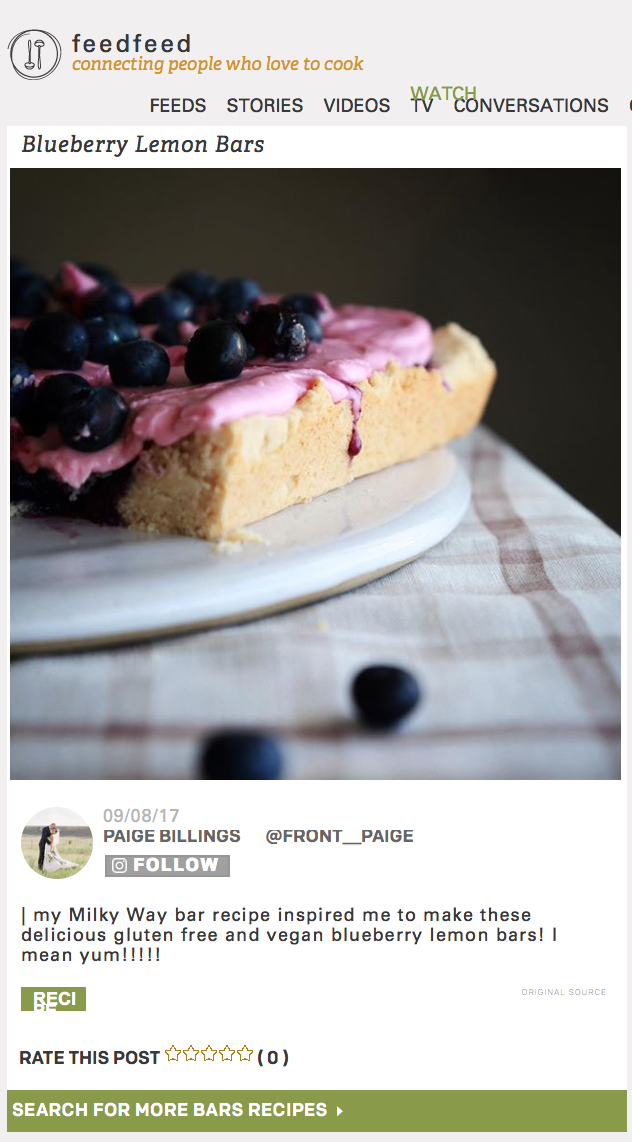 feedfeed & Driscolls Berries - Do you love lemon? And fresh blueberries? Maybe sugar cookies too? Check out these delicious bars with Driscoll's fresh blueberries! Recipe here!