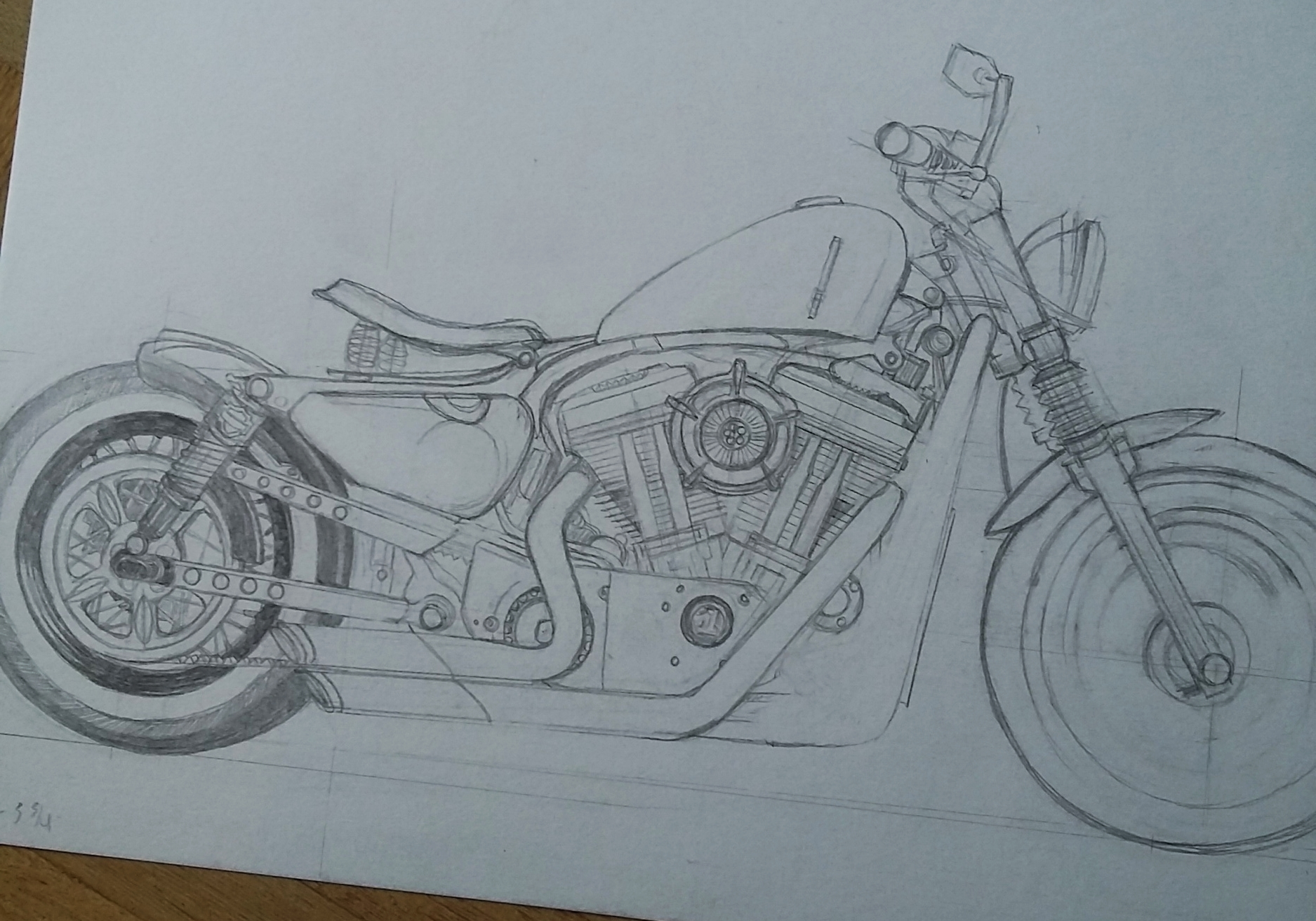 Pencil sketch of the 48