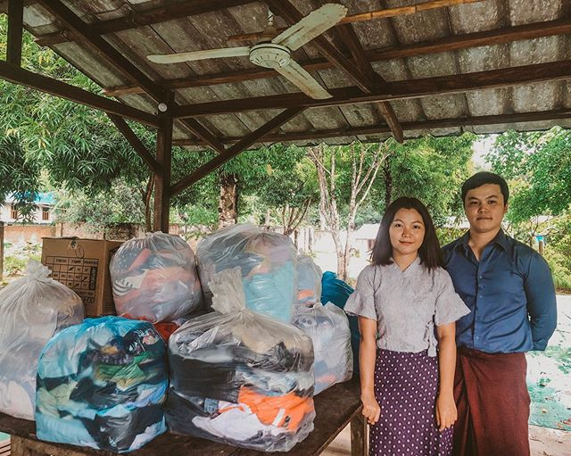 Thank you so much to Ma Zue Zue Zin and Ko Sai Wai Hein Nyunt for donating clothes and school equipments for the kids! May God bless you and may God grant you the desires of your heart! #lovechildrenshome #kidsoflch