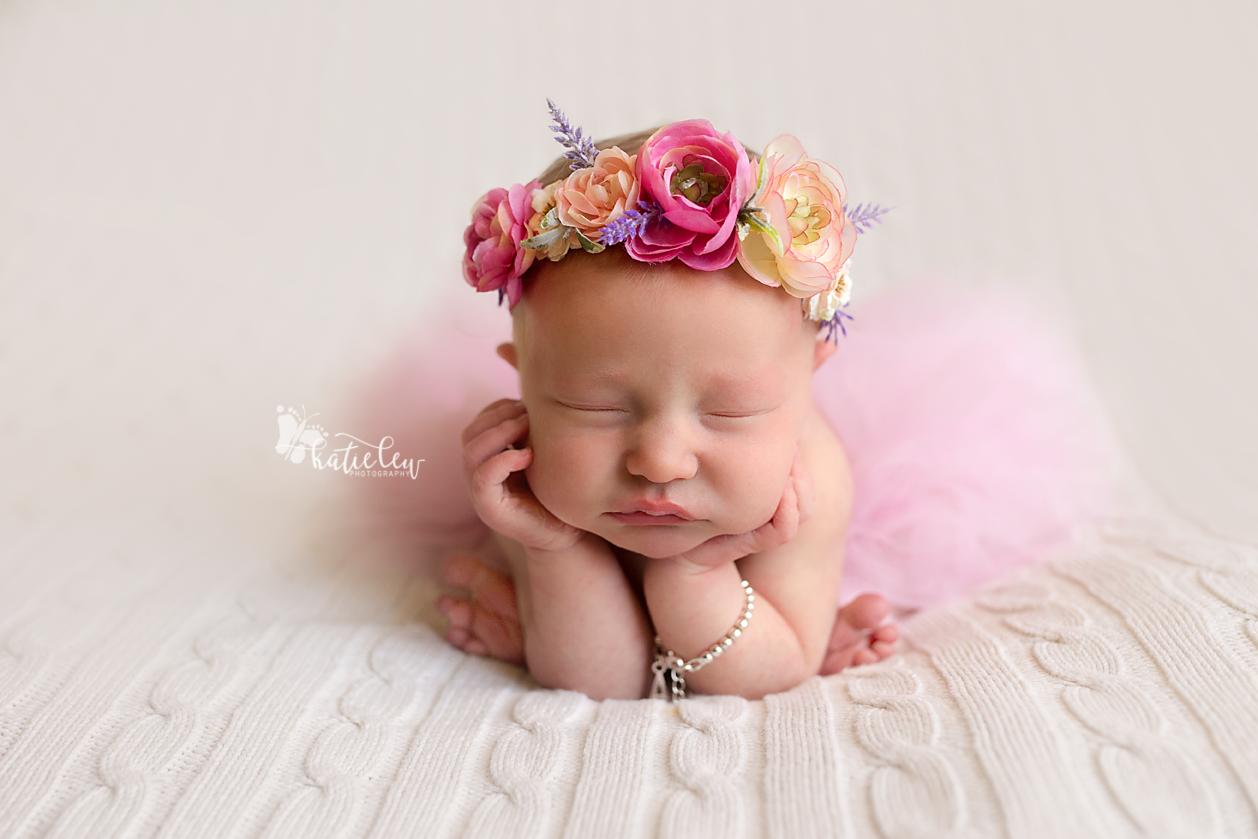 froggy pose baby girl newborn