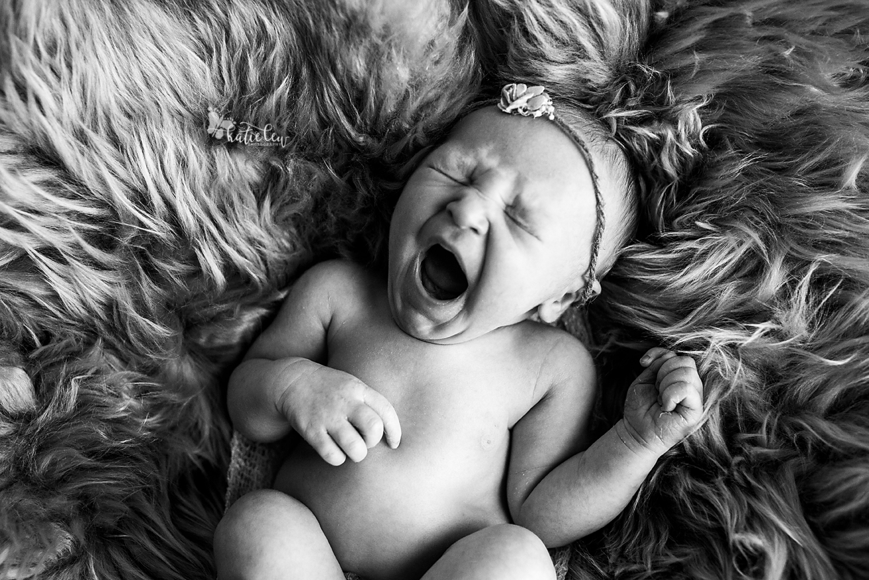 newborn baby yawn
