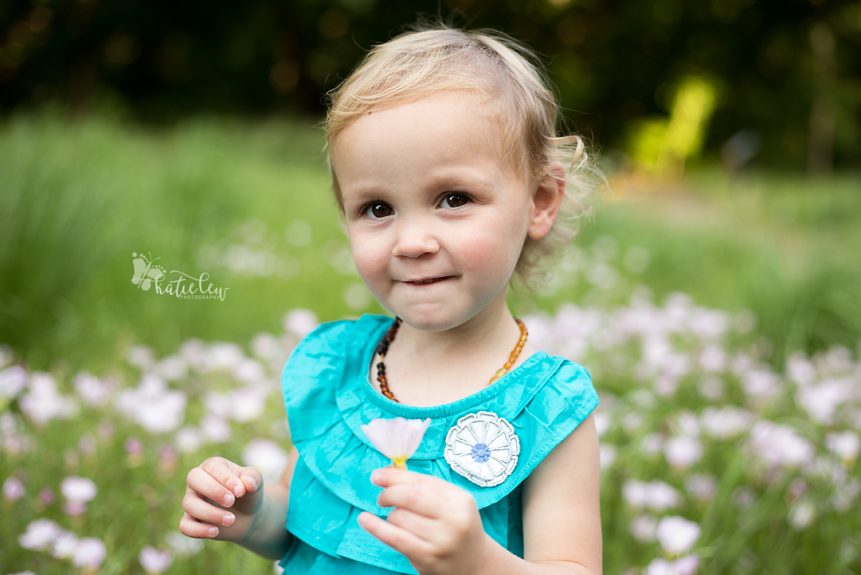 Oklahoma wildflowers 2 year photo session
