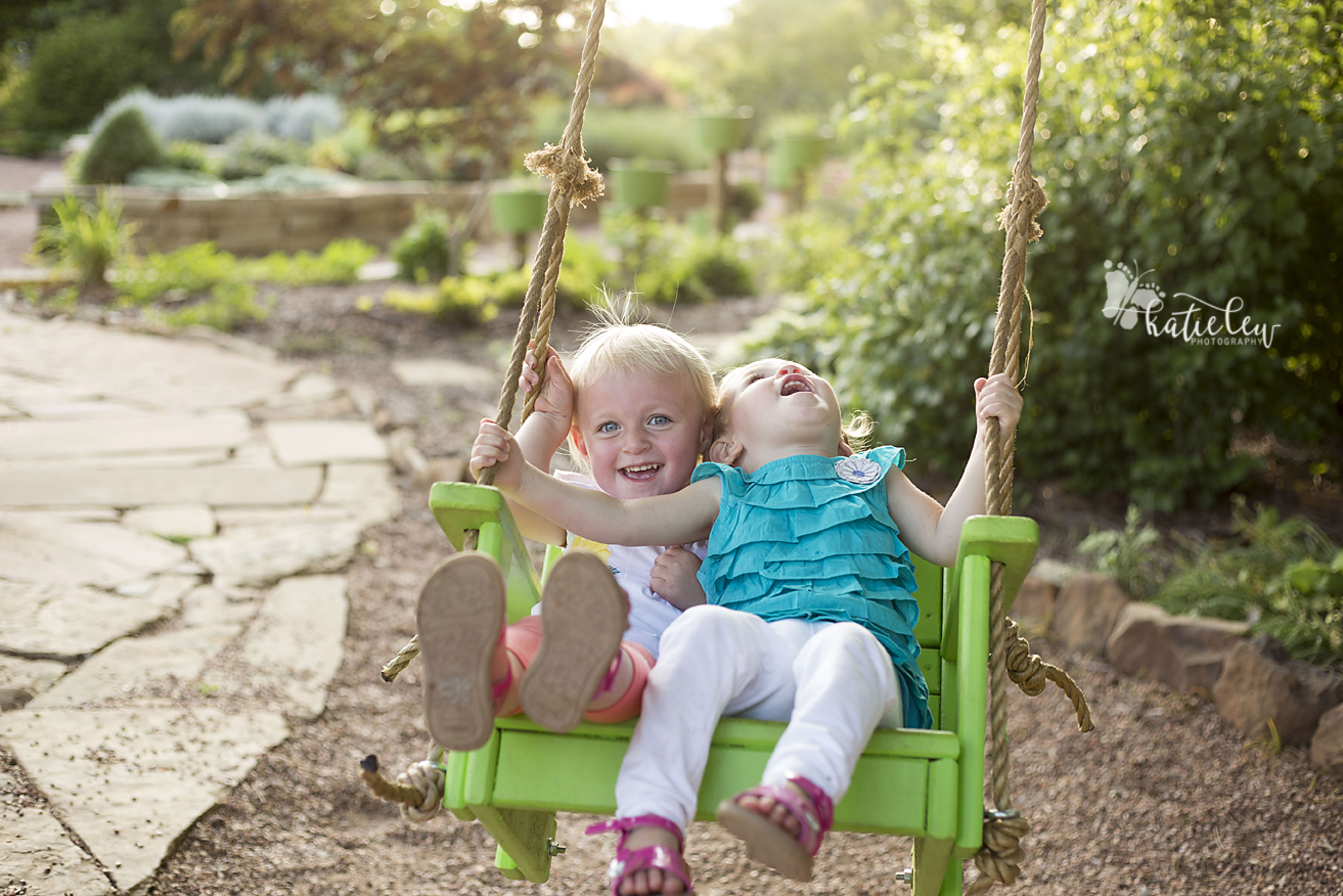 2 year old photo session swing