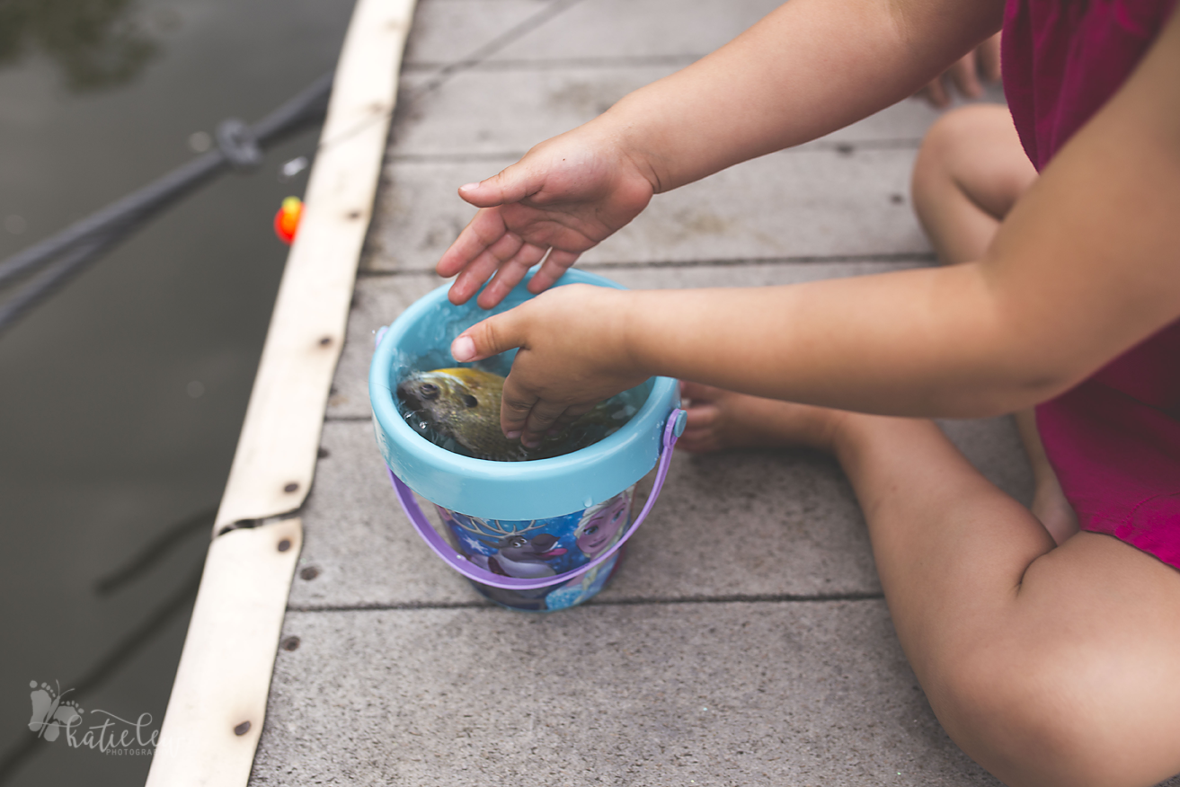 she wanted to keep the fish in her bucket