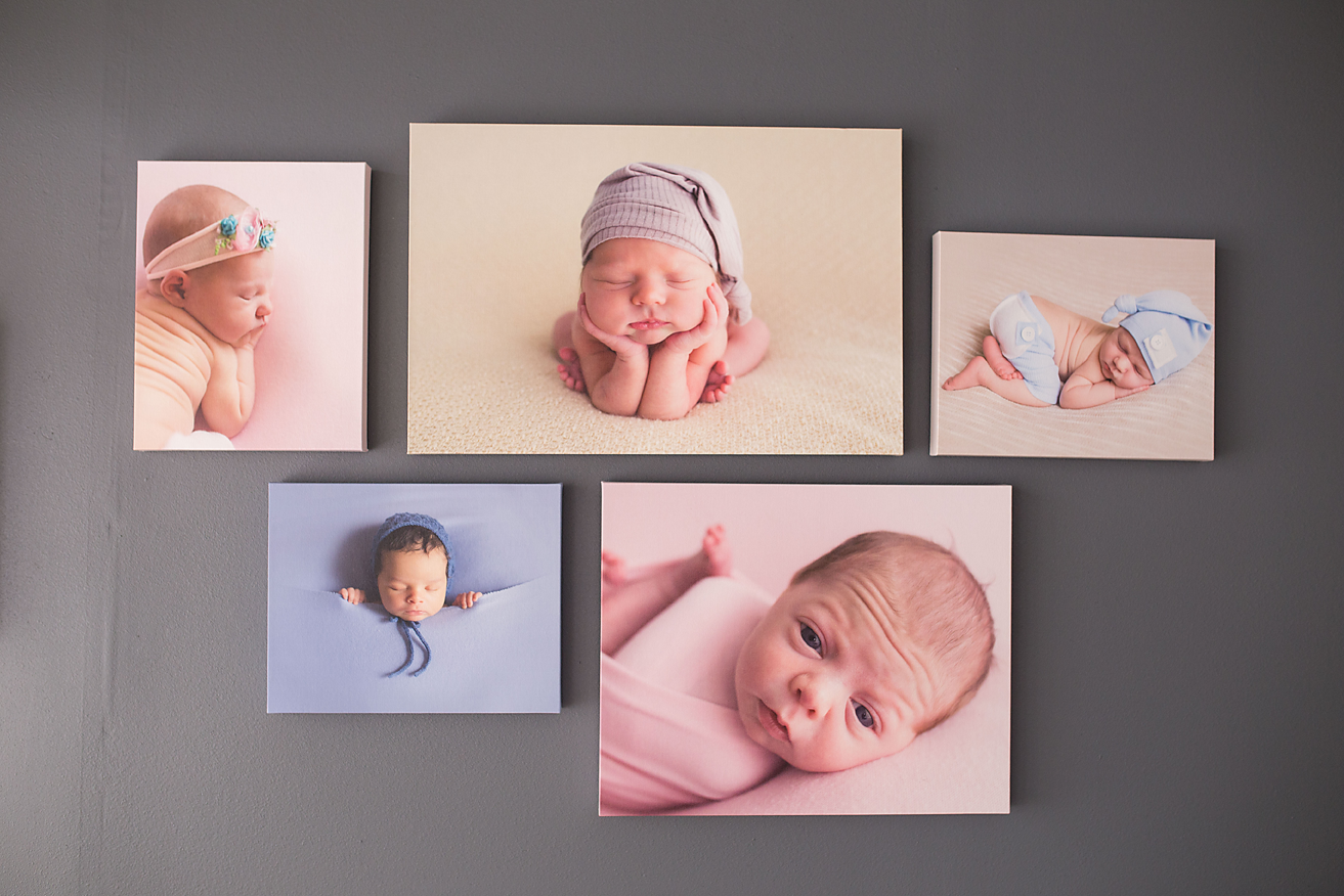 Beautiful canvases of some of the babies photographed in 2016