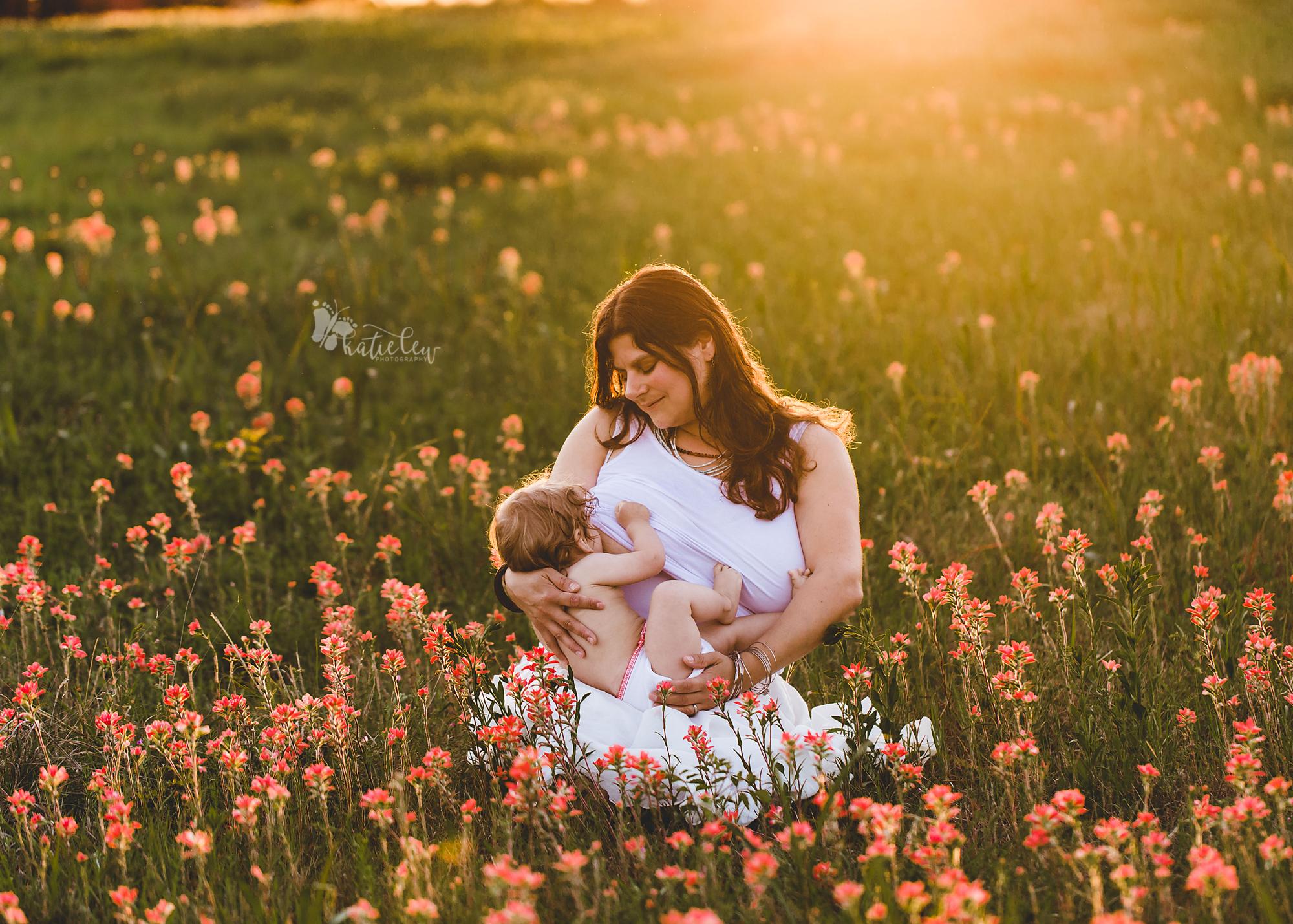 gorgeous backlit breastfeeding photo
