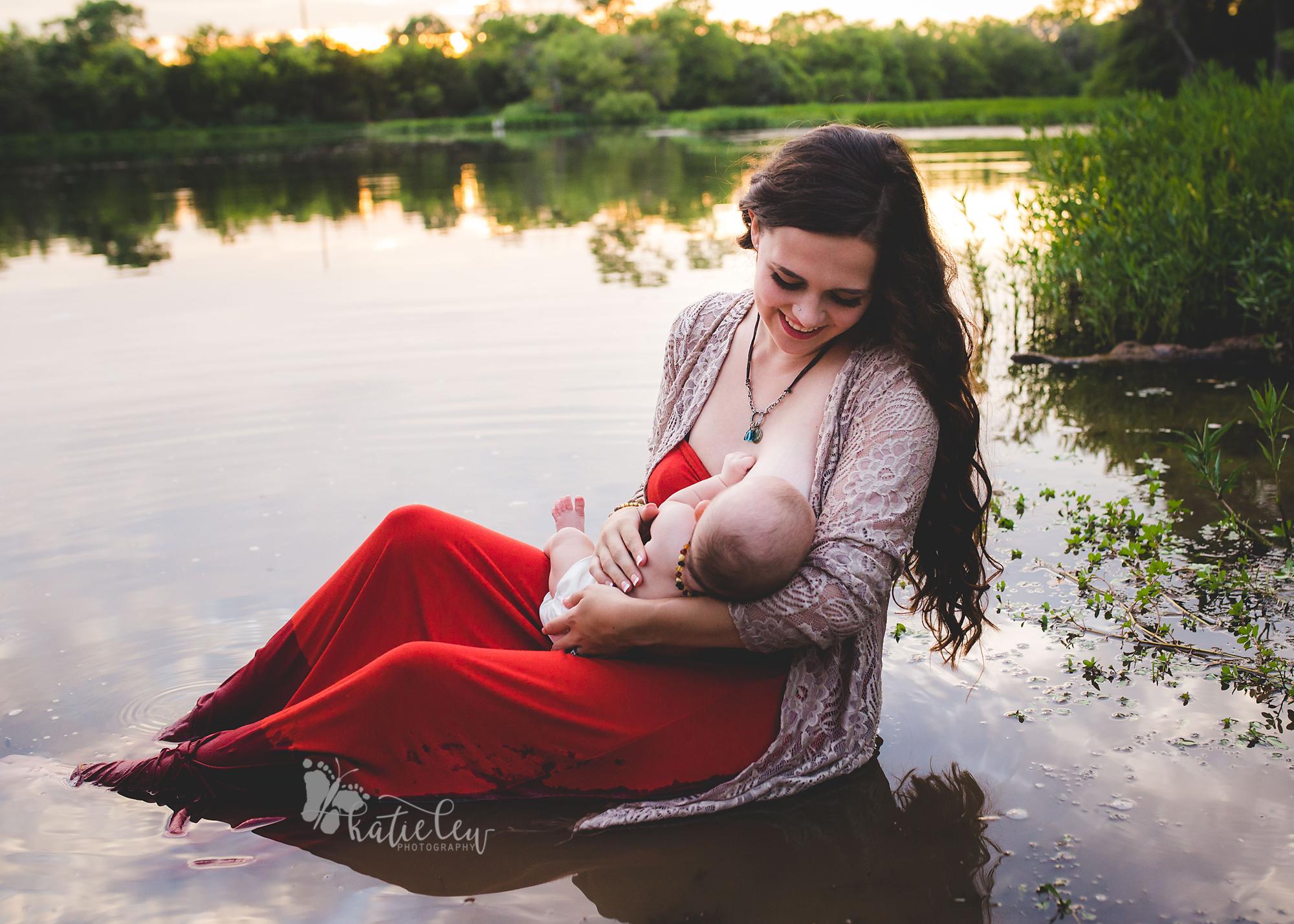 breastfeeding at the lake