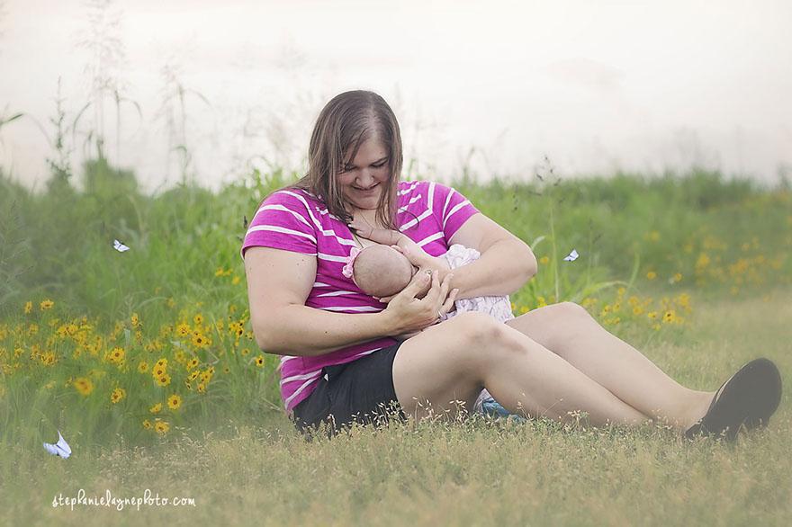 Me nursing Nora - photo credit  Stephanie Layne Photo