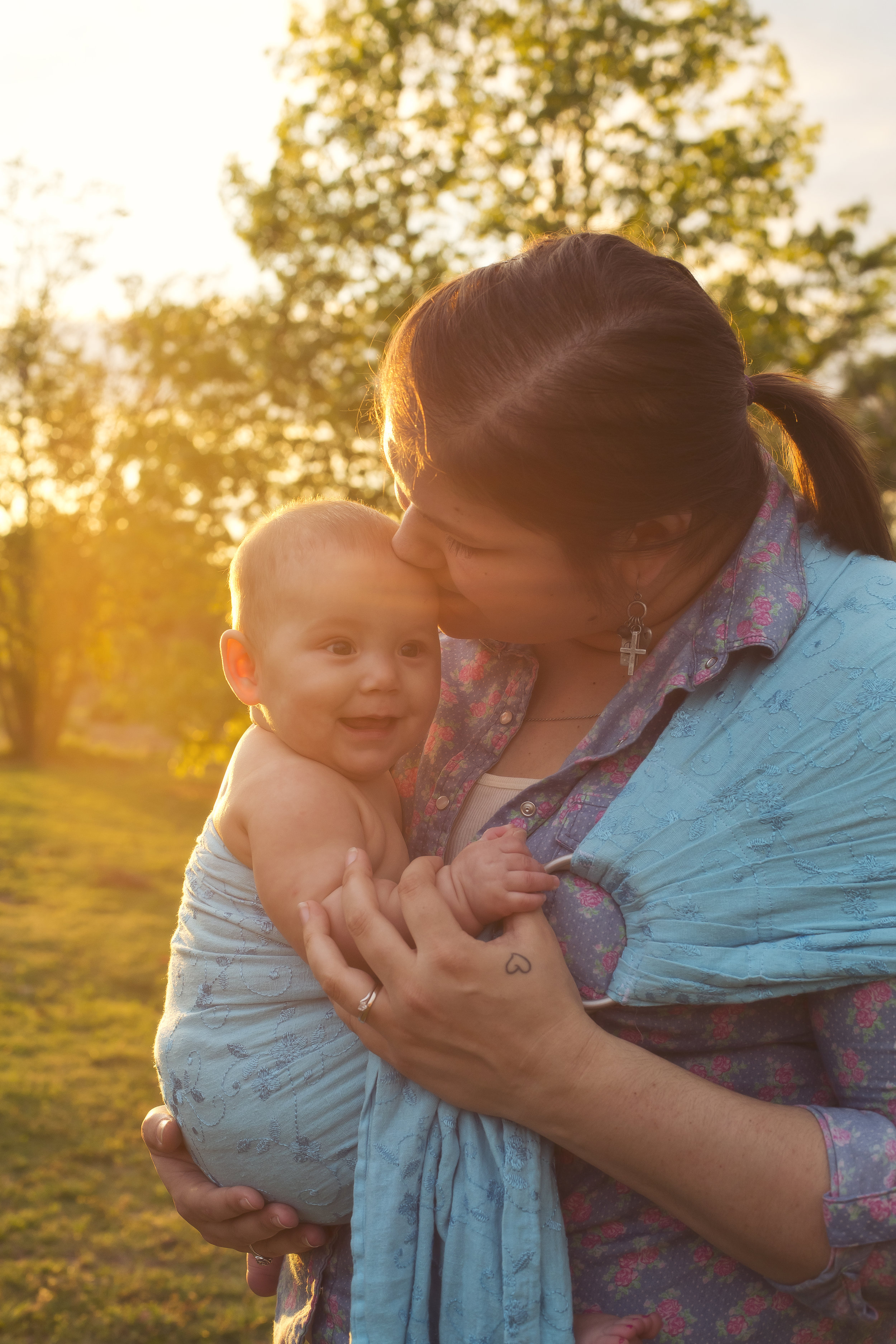 Me wearing Emersyn age 6 months - photo by   Jennifer Crawford Photography