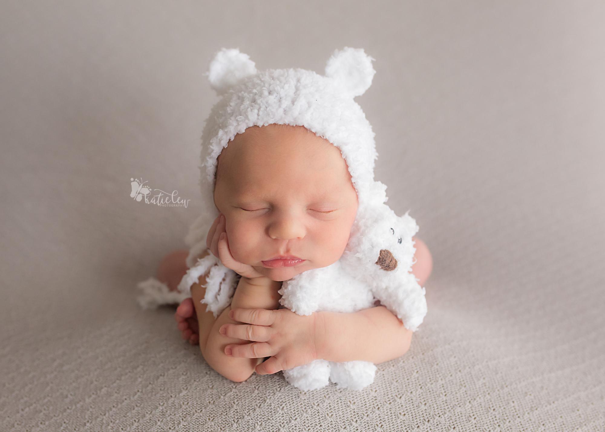 baby boy with a teddy bear