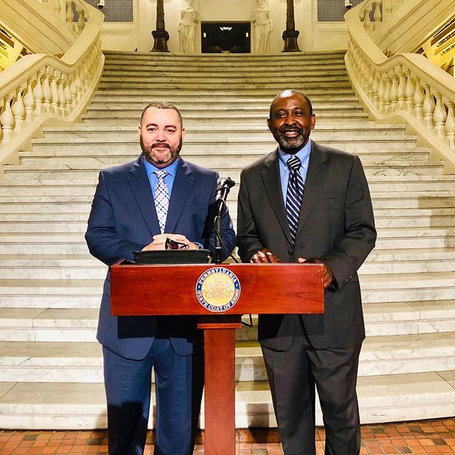 Thank you to our COO, Yahaya Enakhimion  and our CFO, David DeMilio for heading to Harrisburg on Capital Hill to advocate to our Legislators on behalf of Community Health! #FQHC #communityhealth #allpatientsmatter