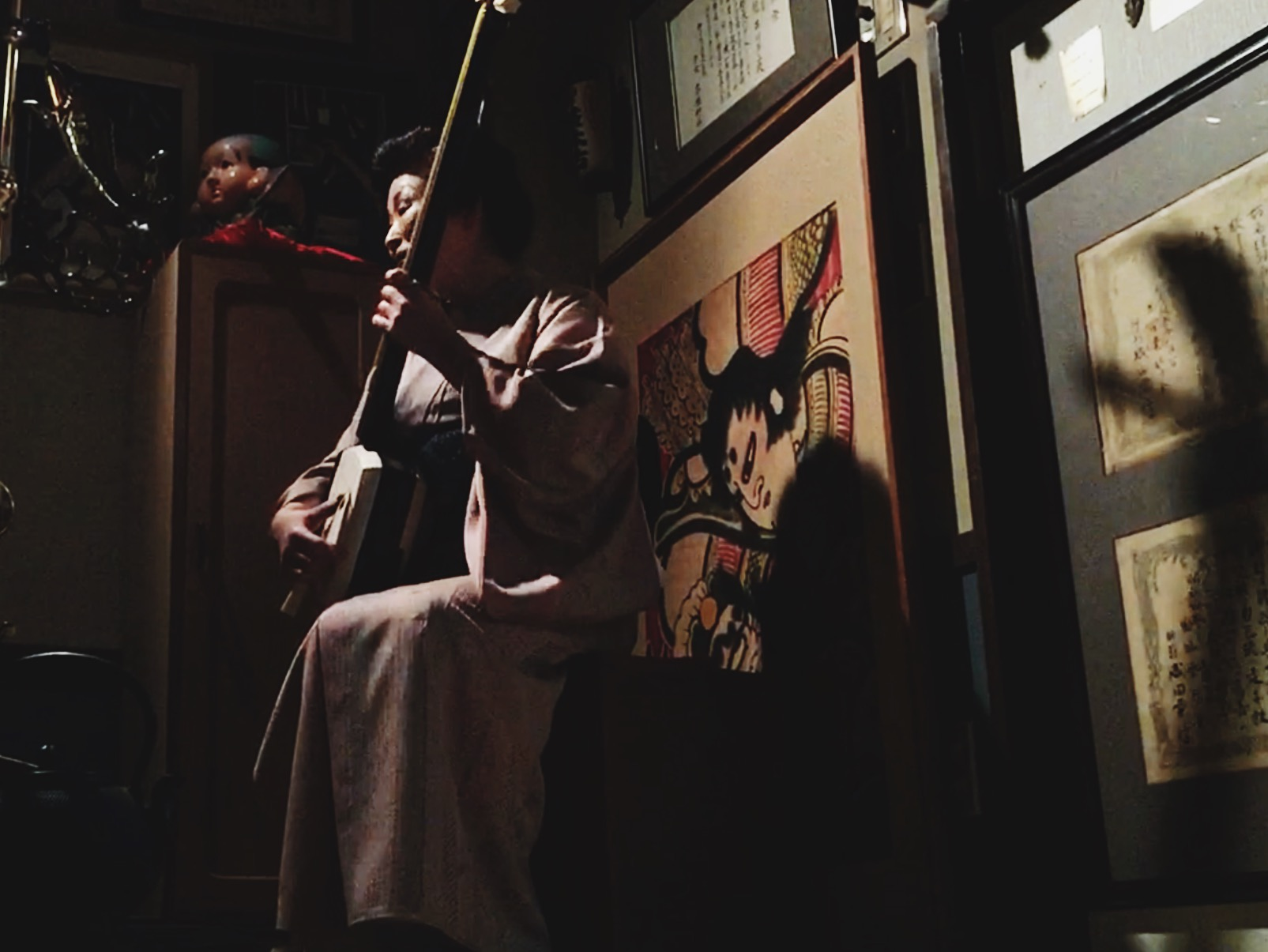 One of the last living students of the legendary shamisen master Takahashi Chikuzan