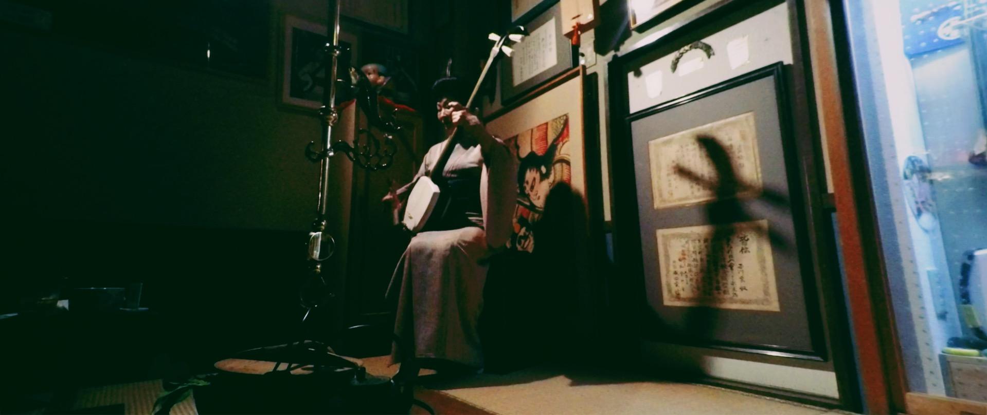 Youko Nishikawa playing Tsugarujamisen in Aomori, Japan