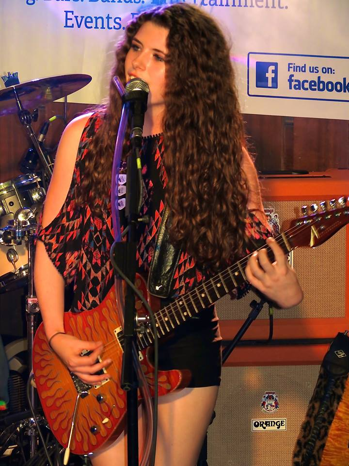 Hannah is the lead singer and guitarist for The Steppin Stones.