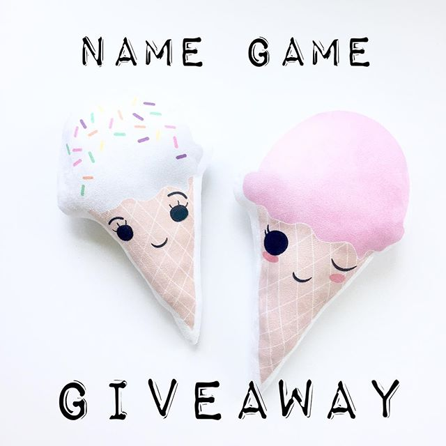 HEY FRIENDS!! Summer is SO close I can nearly taste it! To celebrate I'm adding some sweet new plushie friends to the gang..but I need YOUR help!! These two fellas need a sweet name and I'd love to hear your ideas!! Like this photo, comment with your name ideas, and tag a buddy below to BOTH be entered to win! Winner will receive a free cone buddy of their choice 🍦 I'm so excited to hear your name ideas and can't wait to give away one of these new friends to you 😘😘 And GO!