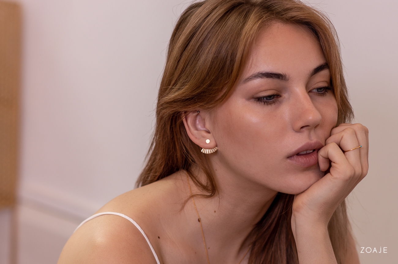 zoaje gold filled studs